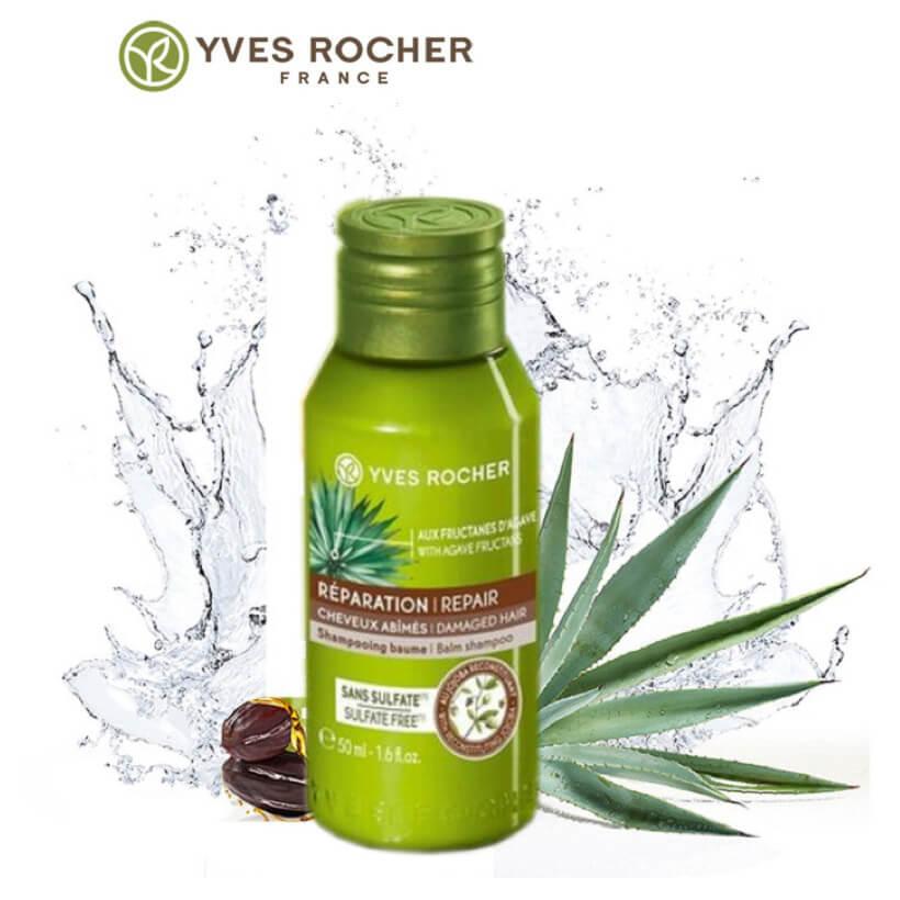 dau-goi-phuc-hoi-danh-cho-toc-rat-kho-va-hu-ton-yves-rocher-nutri-repair-balm-shampoo-50ml