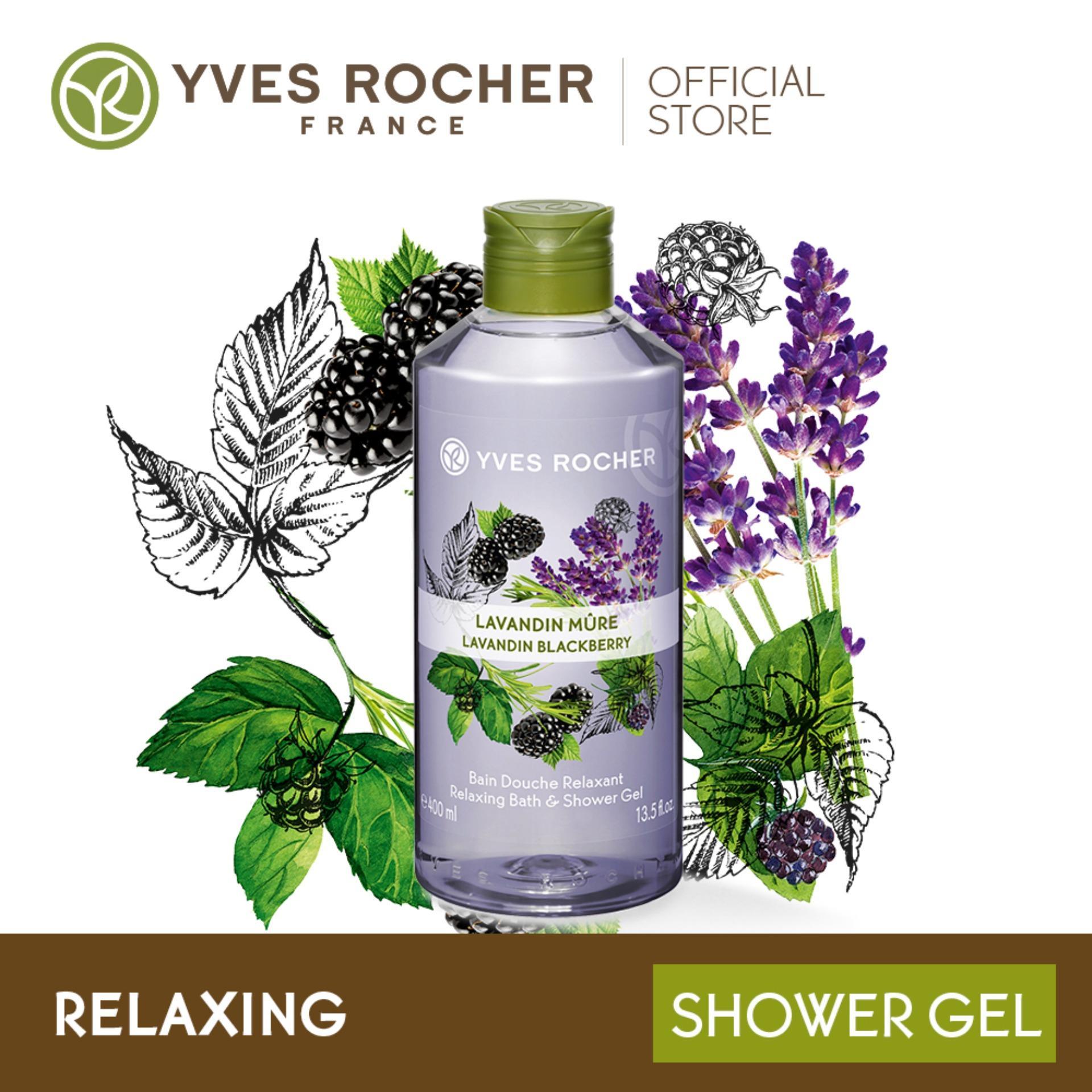 Gel Tắm Yves Rocher Lavandin Blackberry Relaxing Bath & Shower Gel 400ml