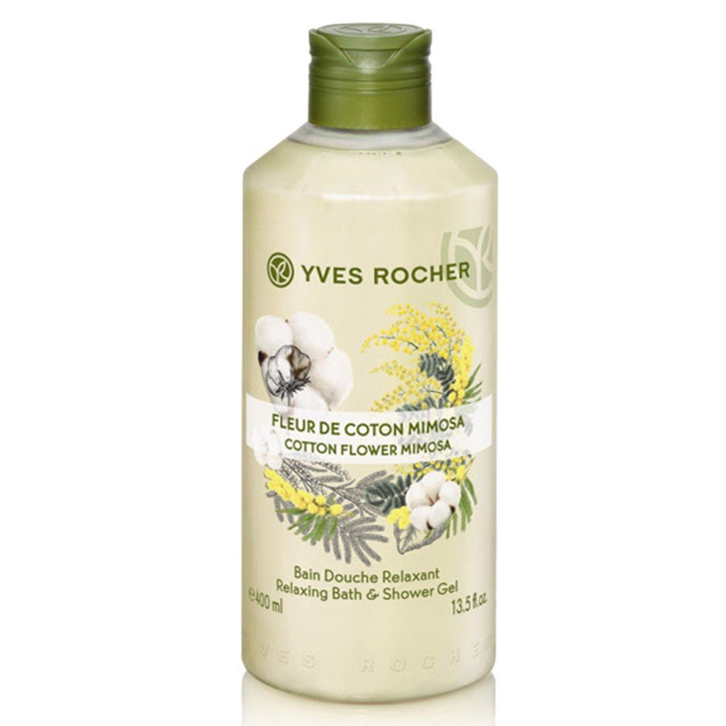 gel-tam-yves-rocher-cotton-flower-mimosa-relaxing-bath-shower-gel-400ml