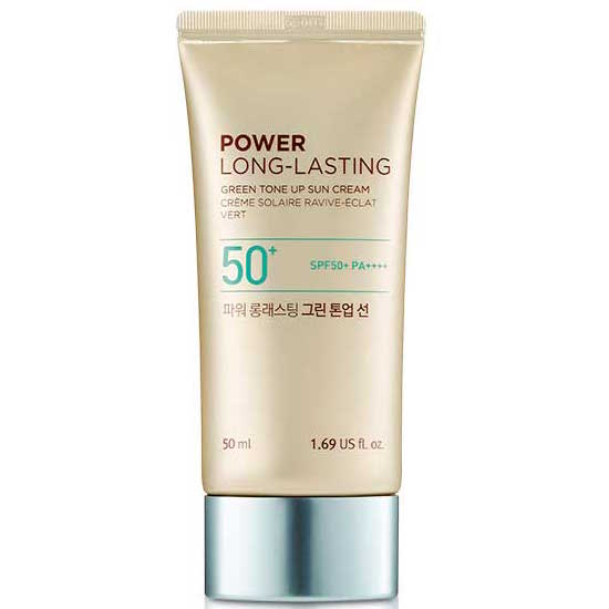 kem-chong-nang-nang-tone-lau-troi-thefaceshop-natural-sun-eco-power-long-lasting-green-tone-up-sun-cream-spf50-pa-50ml