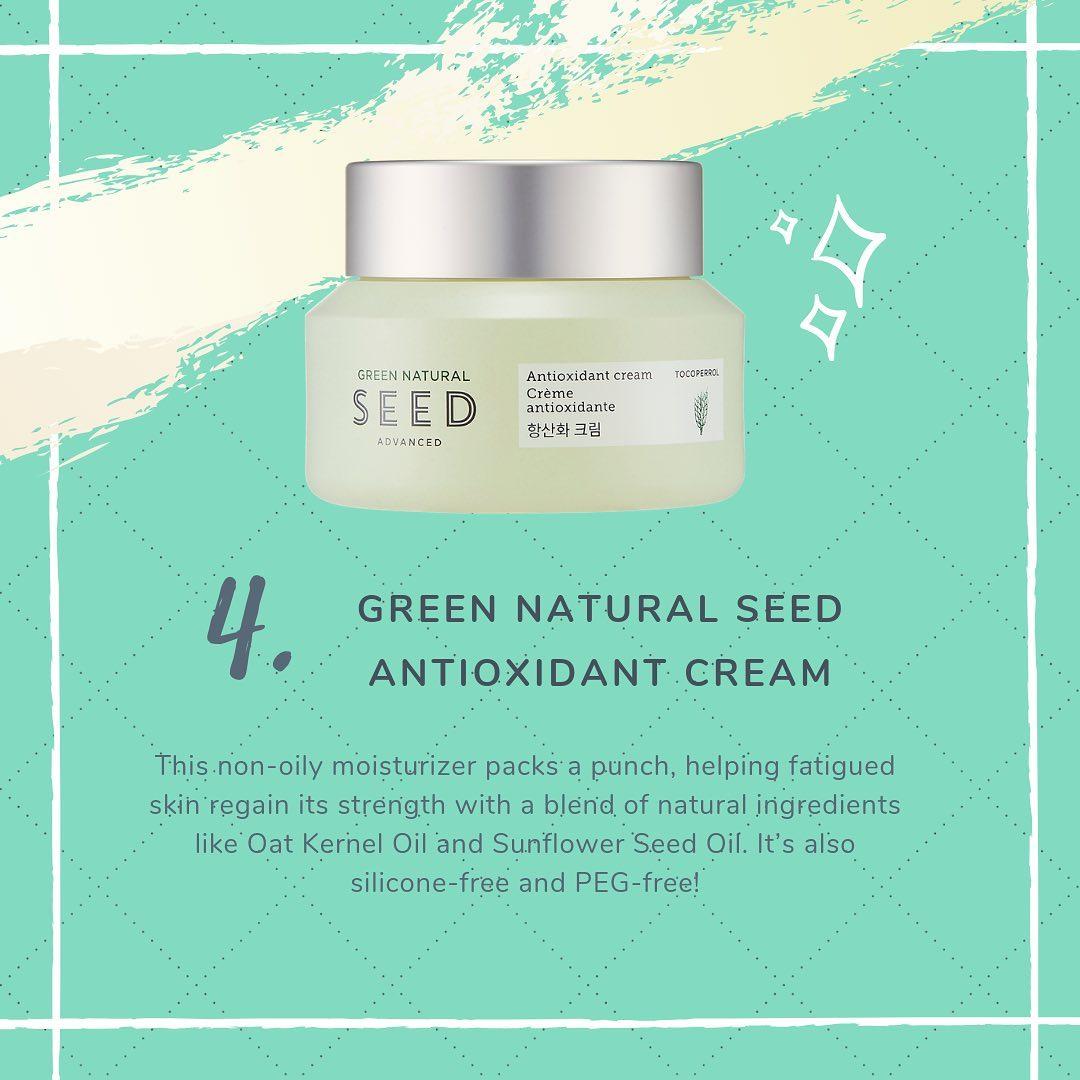 Kem Dưỡng Da Chống Oxi Hoá Thefaceshop Green Natural Seed Advanced Antioxidant Cream 50ml