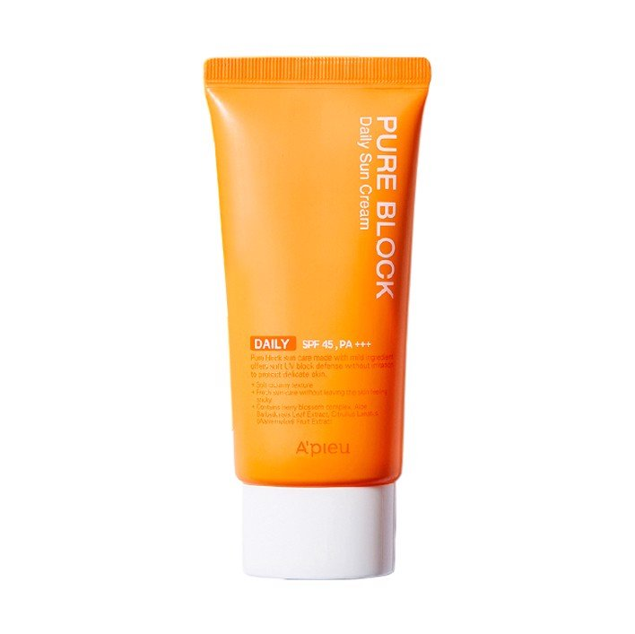 A'pieu Pure Block Daily Sun Cream Spf45 Pa+++ 50ML