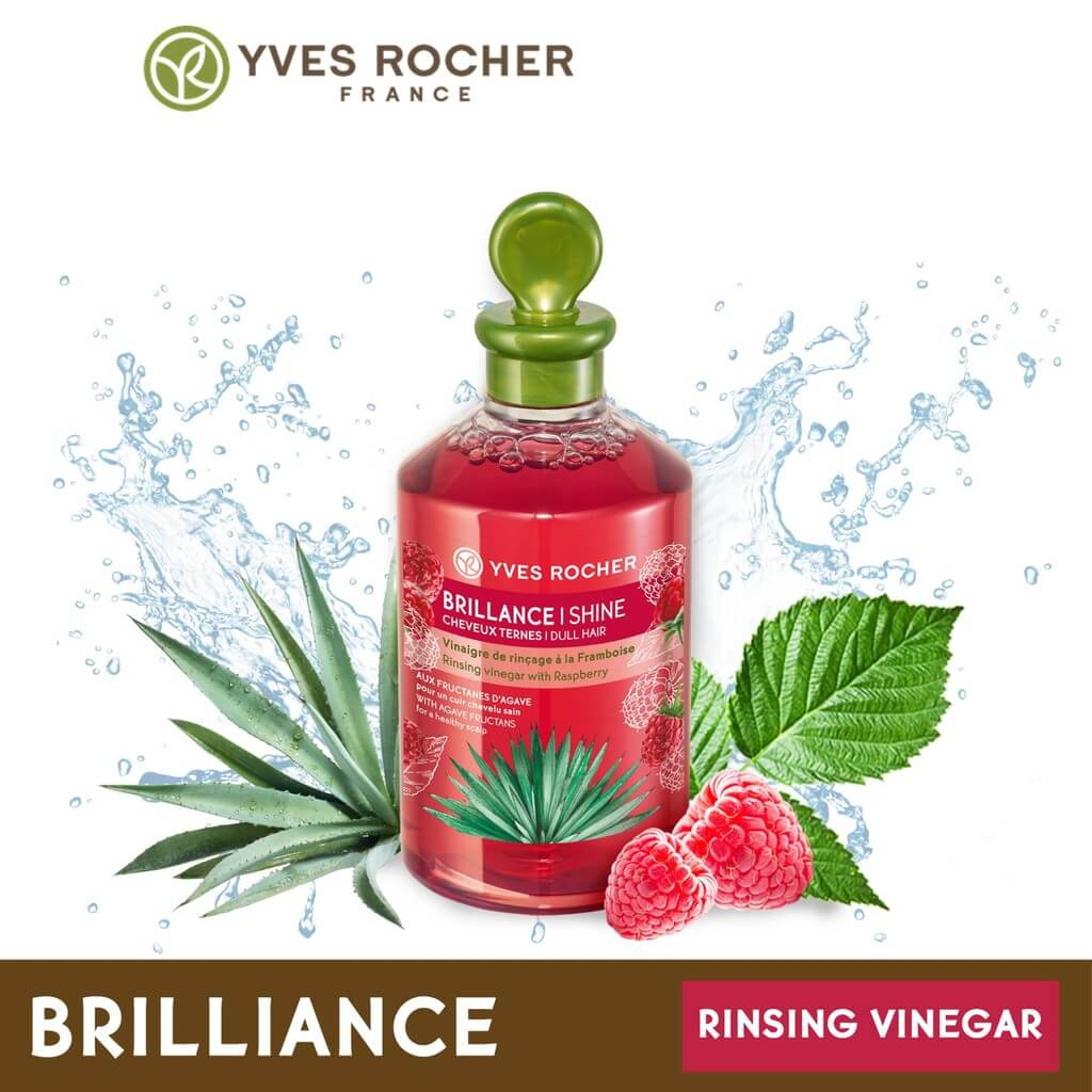 giam-xa-toc-yves-rocher-shine-rinsing-raspberry-vinegar-150ml