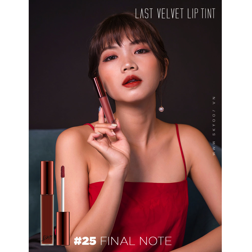 Son Kem Lì Bbia Last Velvet Lip Tint No.25 Final Note - Đỏ Nâu