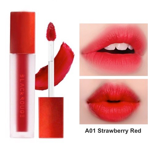 Black Rouge Air Fit Velvet Tint A01 Strawberry Red