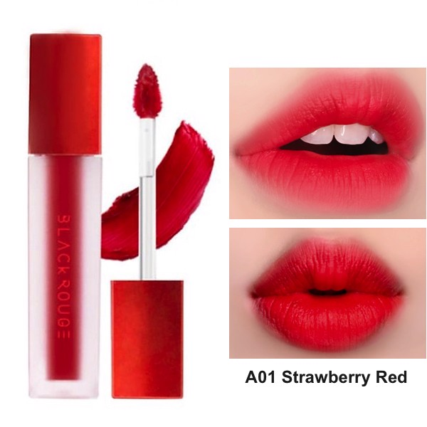 Black Rouge AirFit Velvet Tint A01 Strawberry Red