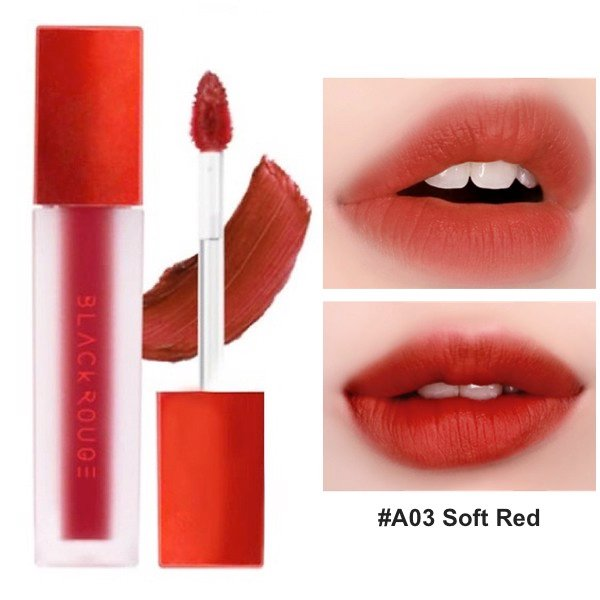 Son Kem Lì Black Rouge Air Fit Velvet Tint A03 Soft Red