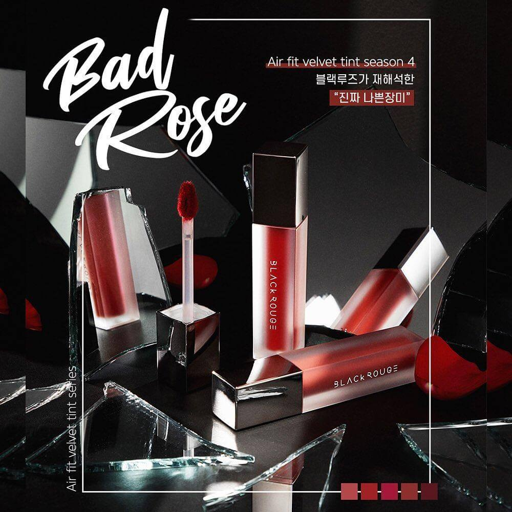 Son Kem Lì Black Rouge Air Fit Velvet Tint Ver.4 Bad Rose A22 Vampire Rose