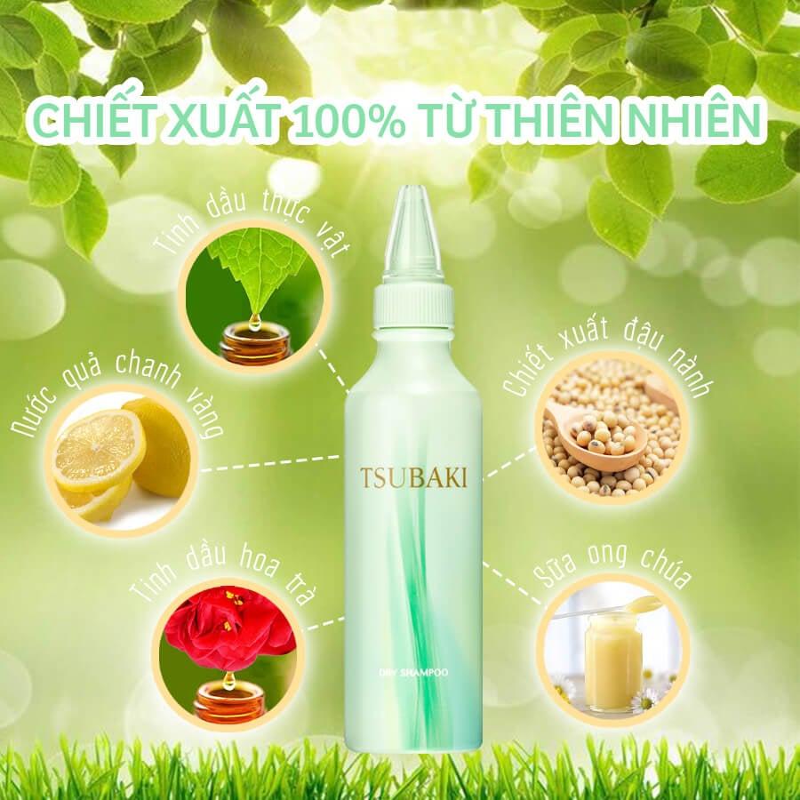Dầu Gội Khô Tsubaki Dry Shampoo 180ml