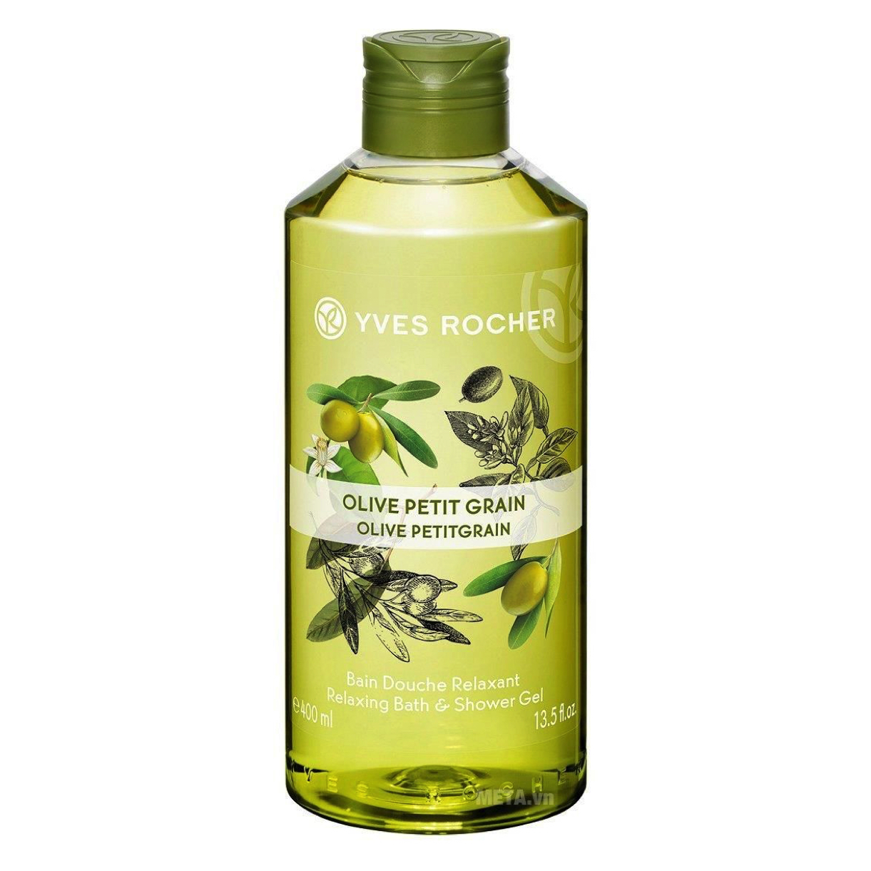 Gel Tắm Yves RocherOlive Petitgrain RelaxingBath & Shower Gel 400ml