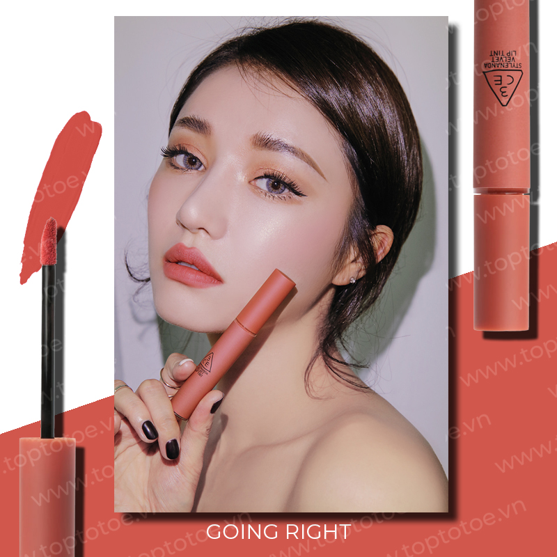 son-kem-li-3ce-velvet-lip-tint-going-right-cam-hong-dat