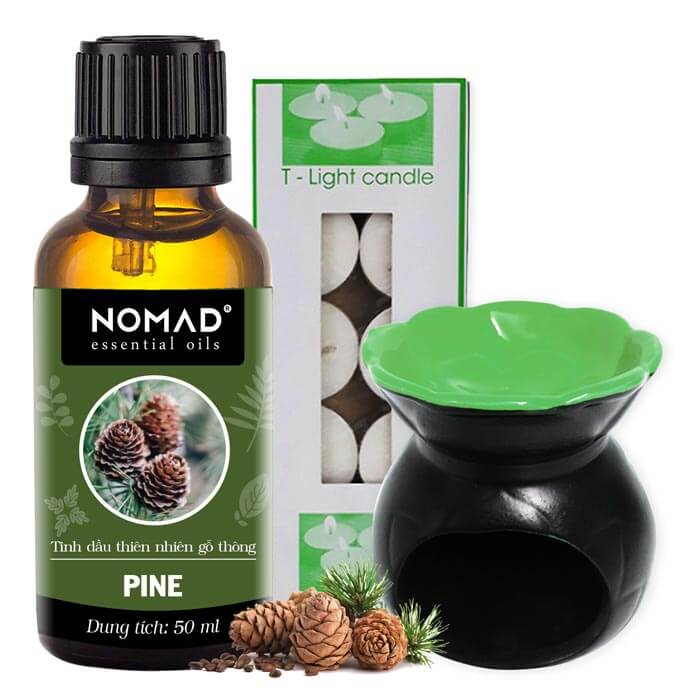 combo-tinh-dau-go-thong-nomad-pine-essential-oils-50ml-den-dot-dang-nen-1-hop-nen-tealight-10-vien