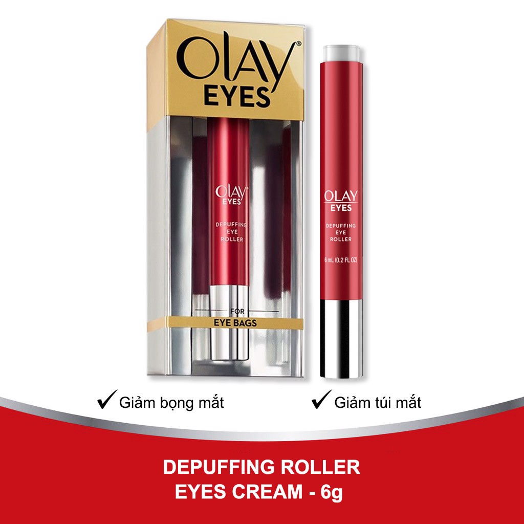 Olay Eyes Eye Depuffing Roller For Bags Under Eyes 6ml