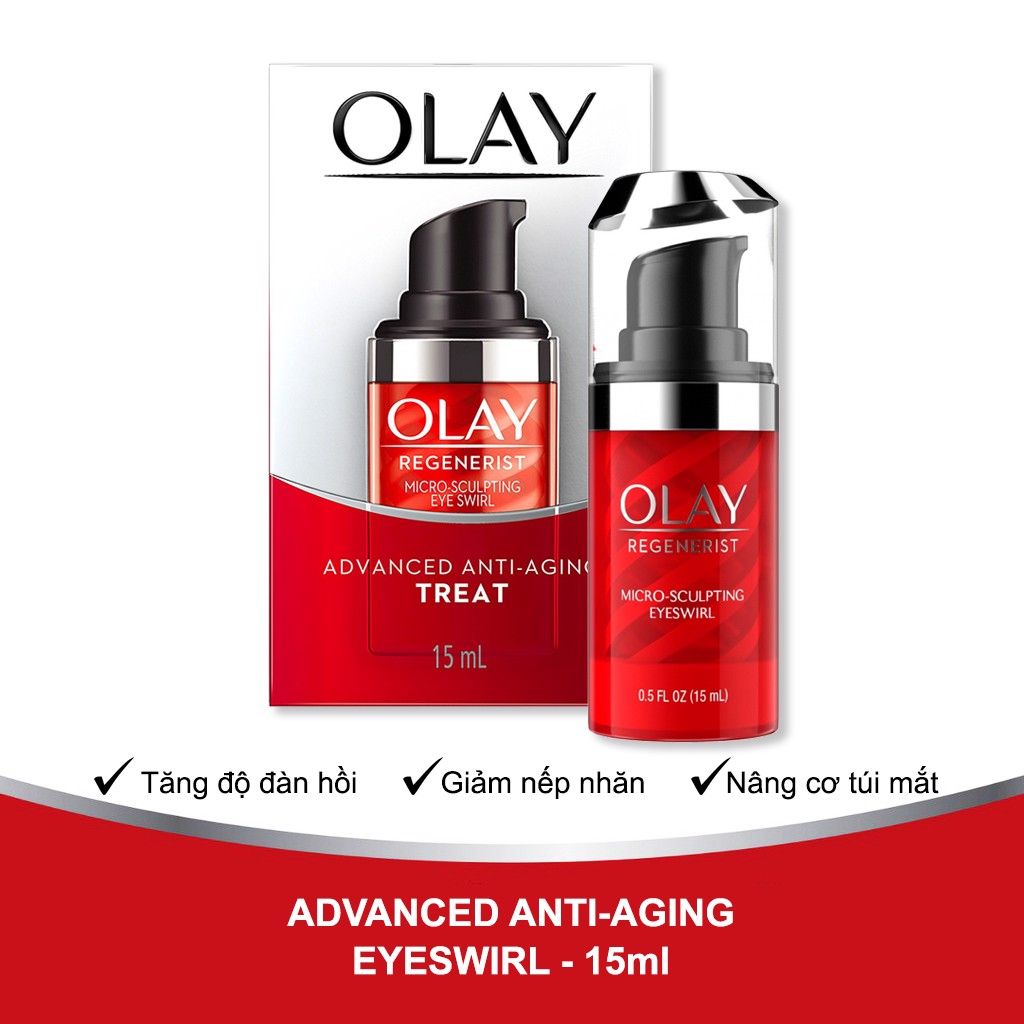 Kem Dưỡng Mắt Olay Regenerist Micro Scultping Eye Swirl Advanced Anti Aging 15ml