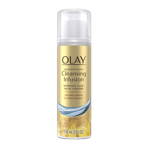 Sữa Rửa Mặt Olay Cleansing Infusion Hydrating Glow Facial Cleanser With Crushed Ginger 150ml