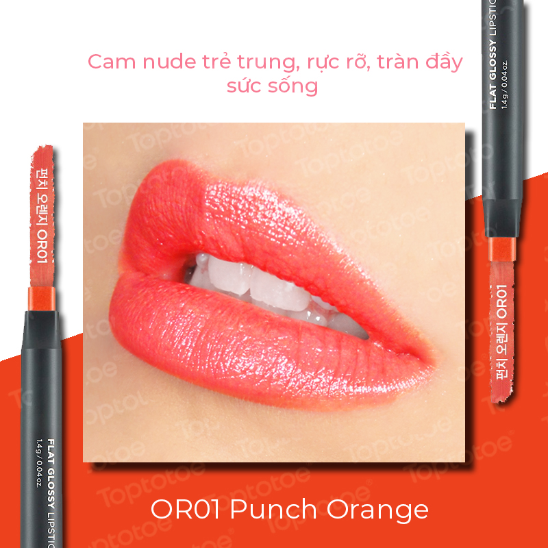 thefaceshop-flat-glossy-lipstick-1-4g-or01-punch-orange