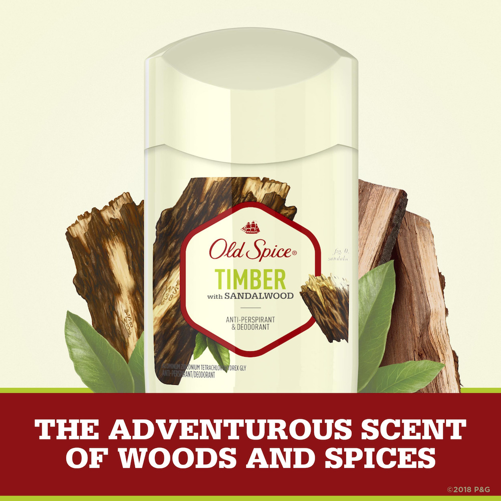 Lăn Khử Mùi Nam Cao Cấp Old Spice Timber with Sandalwood Anti-Perspirant & Deodorant 73g