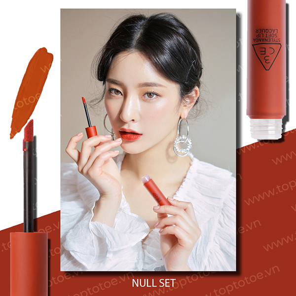Son Kem Lì 3CE Soft Lip Lacquer #Null Set