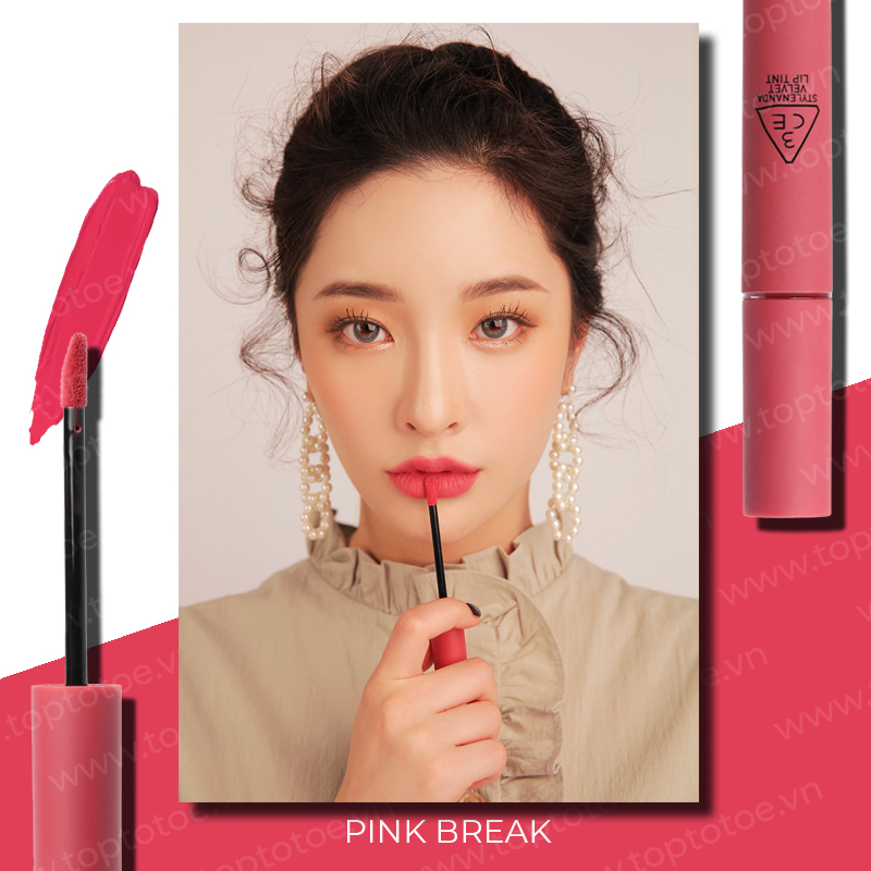 son-kem-li-3ce-velvet-lip-tint-pink-break-hong-dao