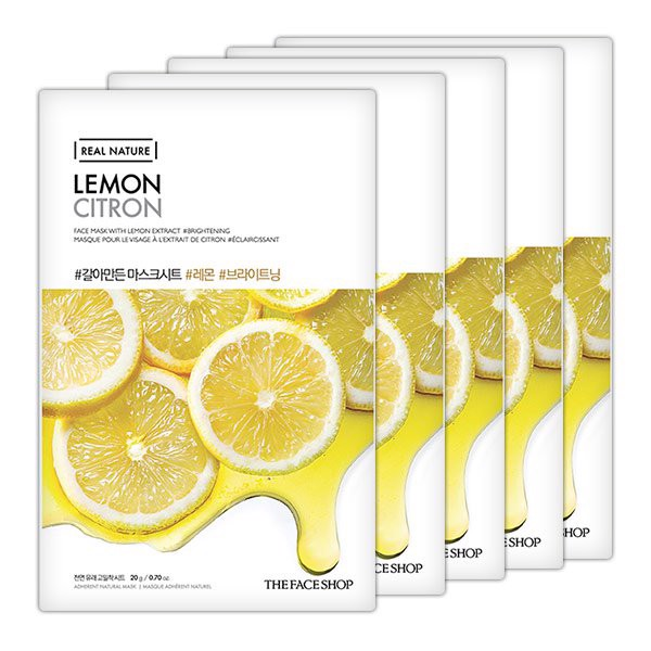 Mặt Nạ Giấy Thefaceshop Real Nature Lemon Face Mask 20g