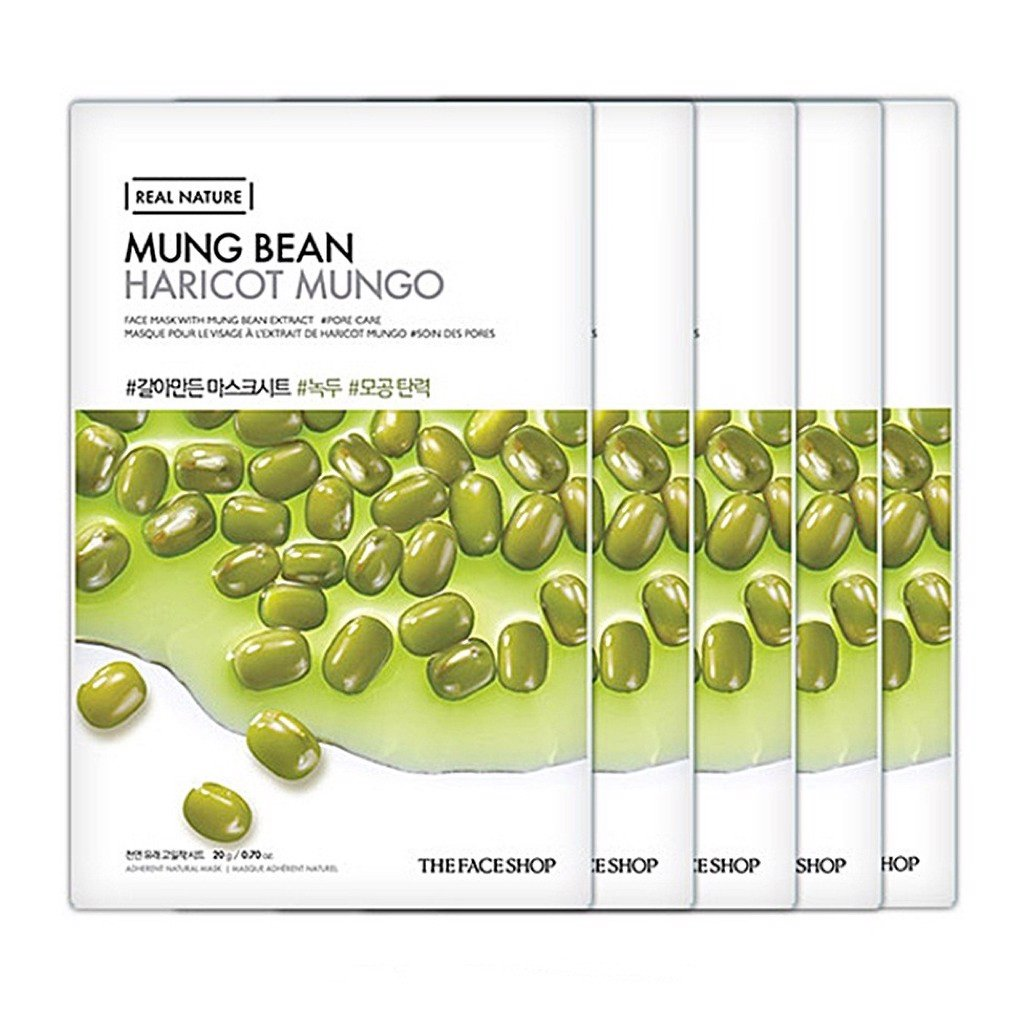 Mặt Nạ Giấy Thefaceshop Real Nature Mung Bean Face Mask 20g
