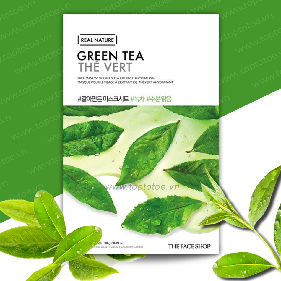 Mặt Nạ Giấy Thefaceshop Real Nature Green Tea Face Mask 20g