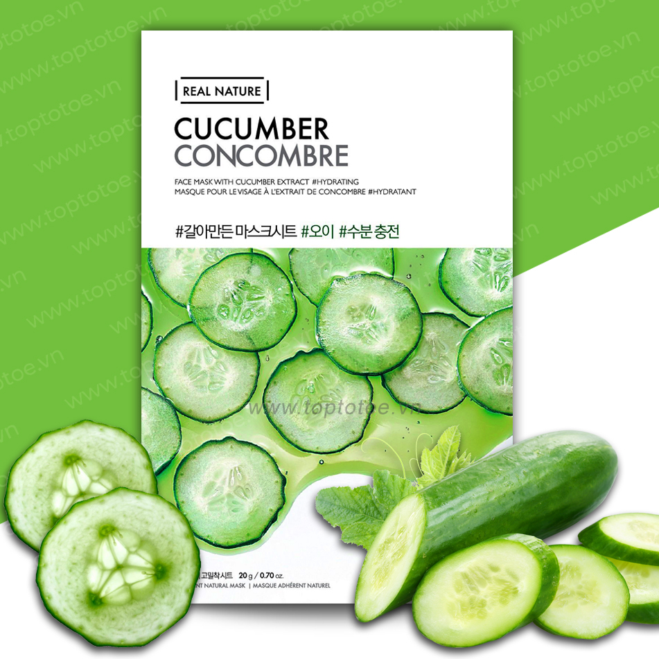 Mặt Nạ Giấy Thefaceshop Real Nature Cucumber Face Mask 20g