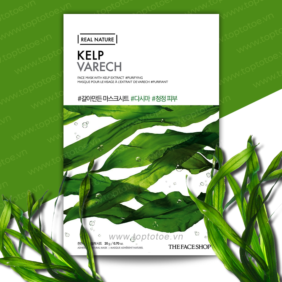 Mặt Nạ Giấy Thefaceshop Real Nature Kelp Face Mask 20g