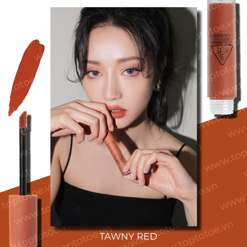 son-kem-li-3ce-soft-lip-lacquer-tawny-red-cam-dat