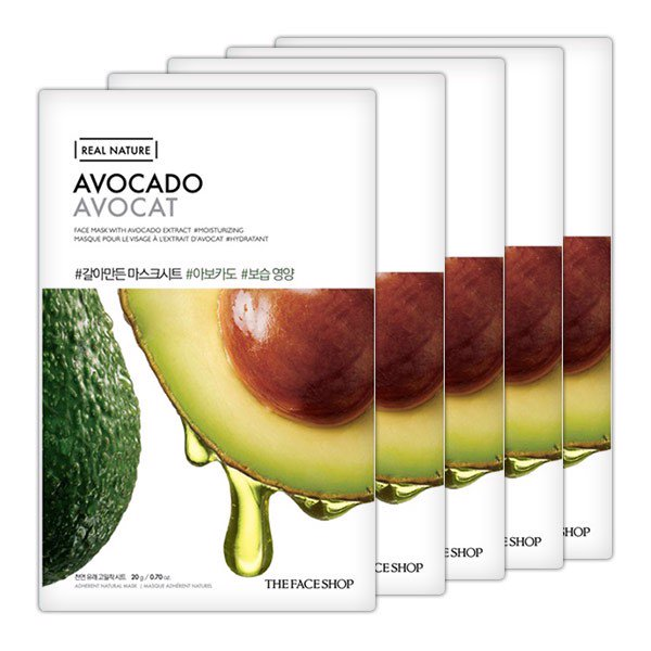 Mặt Nạ Giấy Thefaceshop Real Nature Avocado Face Mask 20g