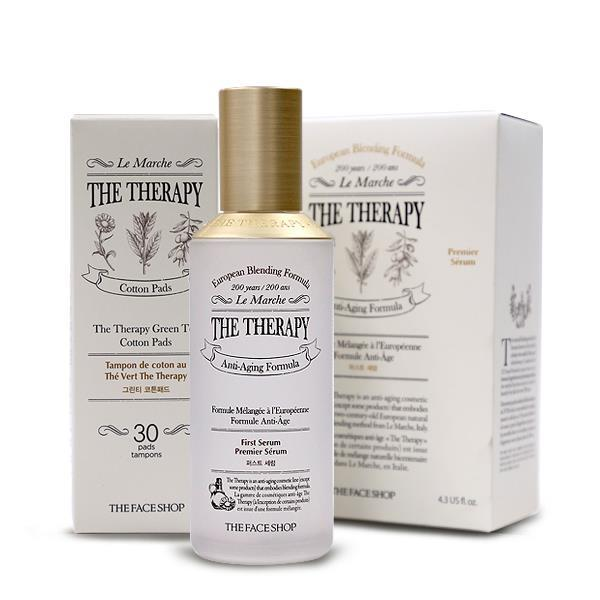 nuoc-than-phuc-hoi-da-thefaceshop-the-therapy-first-serum-130ml-tang-kem-bong-cotton