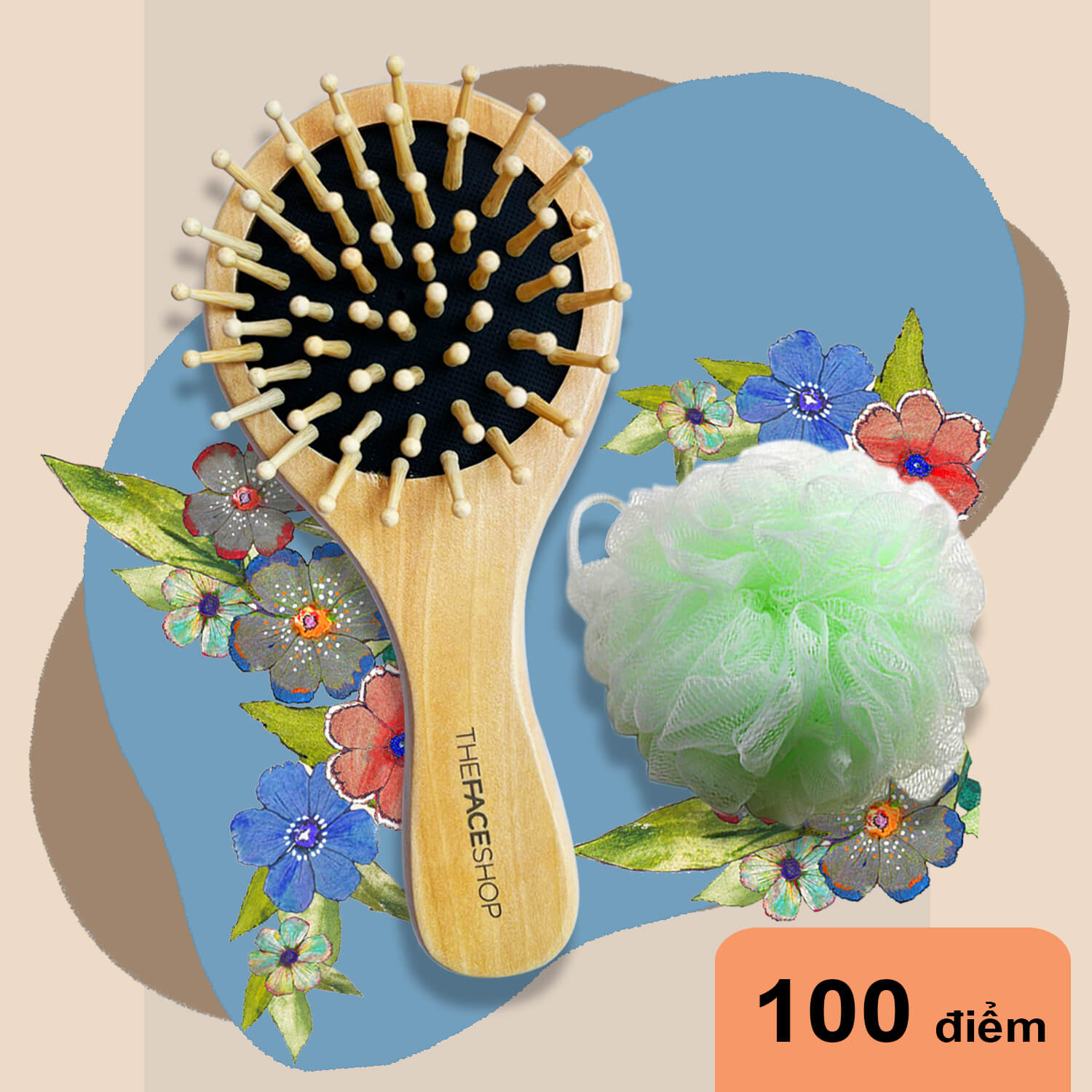 qua-tang-tich-diem-100-diem-01-luoc-chai-toc-01-bong-tam-tfs-hair-brush-shower-puff-qt03