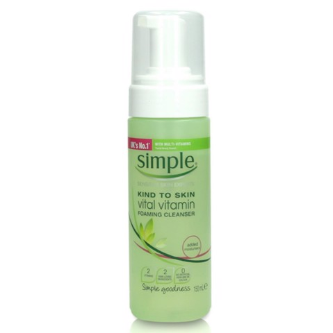 Simple Kind To Skin Vitamin Foaming Cleanser 150ml