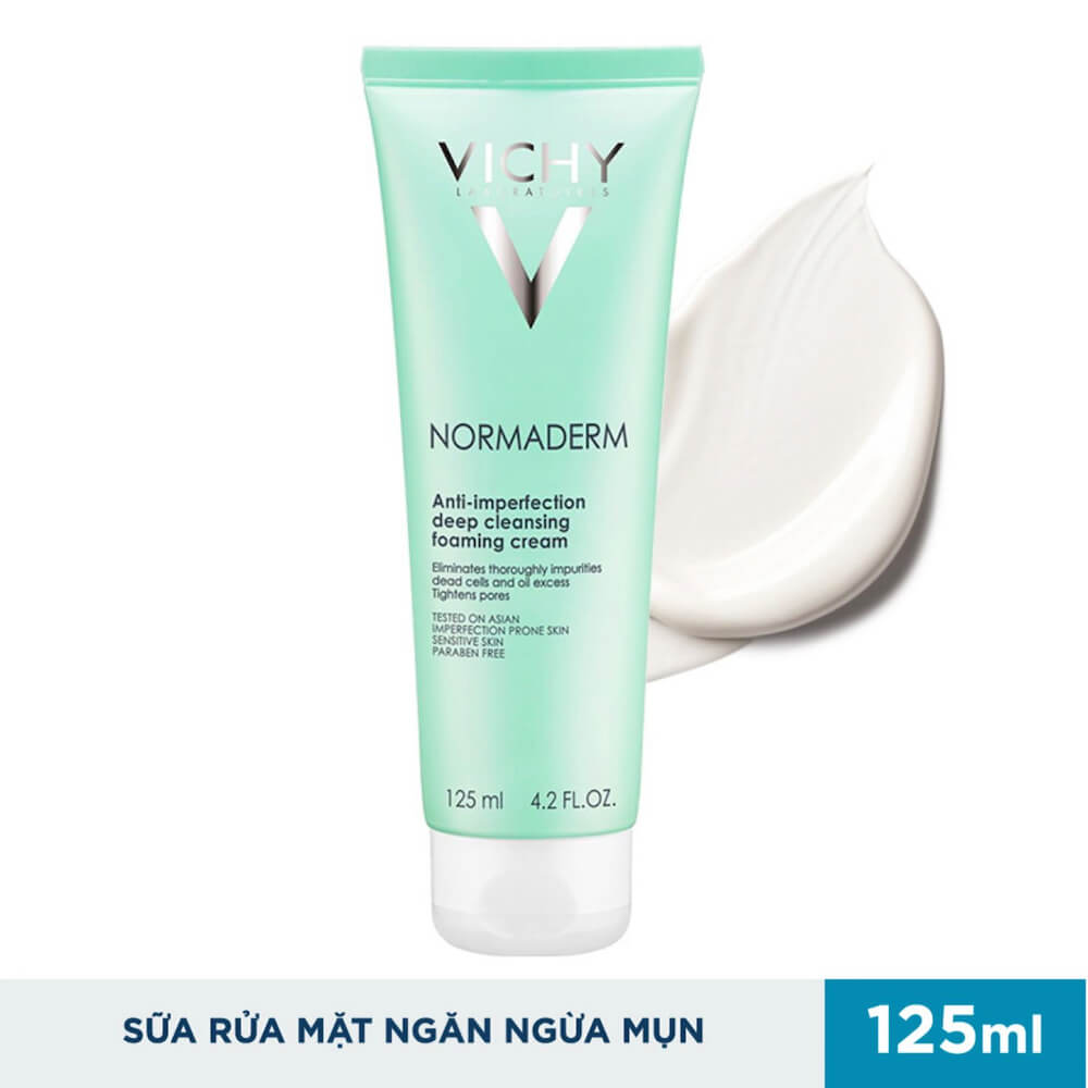 sua-rua-mat-ngan-ngua-mun-vichy-normaderm-deep-cleansing-foaming-cream-125ml