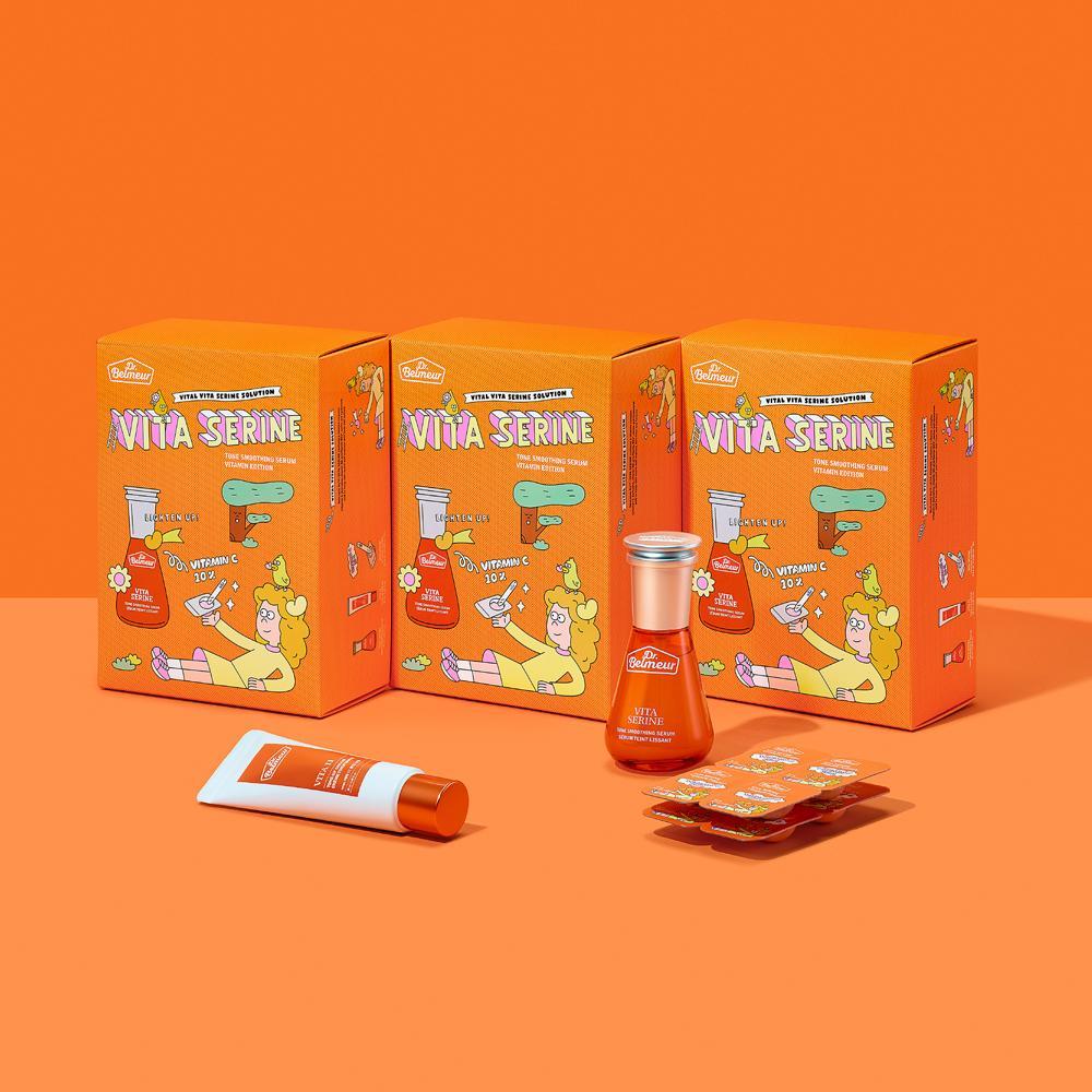 bo-duong-trang-nang-tong-da-thefaceshop-dr-belmeur-vita-serine-tone-smoothing-serum-vitamin-edition