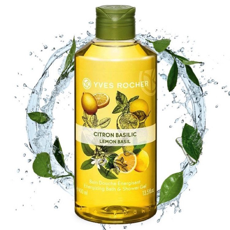 Gel Tắm Yves Rocher Lemon Basil Energizing Bath & Shower Gel 400ml
