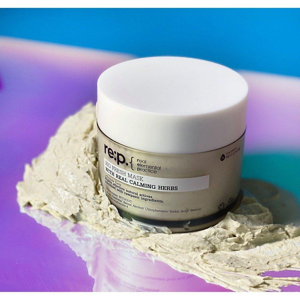 Mặt Nạ Đất Sét Hoa Cúc Giảm Sưng Viêm Cho Da Nhạy Cảm Re:p Bio Fresh Mask With Real Calming Herbs 130g