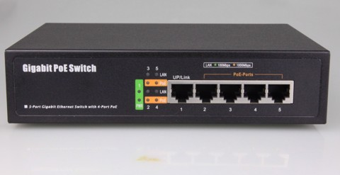 Switch POE 5 Port 10/100/1000M PSE6504G - KMETECH