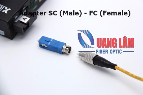 Adapter quang SC (Male) sang FC (Female) SM, Simplex