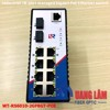 Industrial Switch Managed 02 port Fiber GE(SFP slot) + 8 Port 10/100/1000M RJ45 with POE, WT-RS6010-2GF8GT-POE
