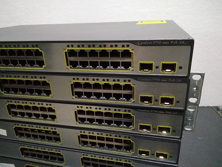 WS-C3750-24PS-S Cisco Catalyst switch 3750 24 10/100 PoE + 2 SFP + IPB Image