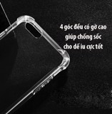 iPhone 5, 6 Plus, 7, 8, X - Ốp lưng chống sốc dẻo trong suốt