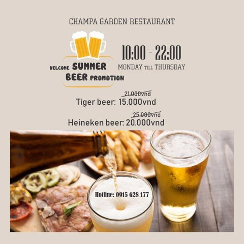 WELCOME SUMMER BEER PROMOTION