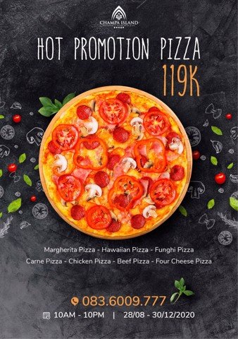 HOT PROMOTION PIZZA 119K