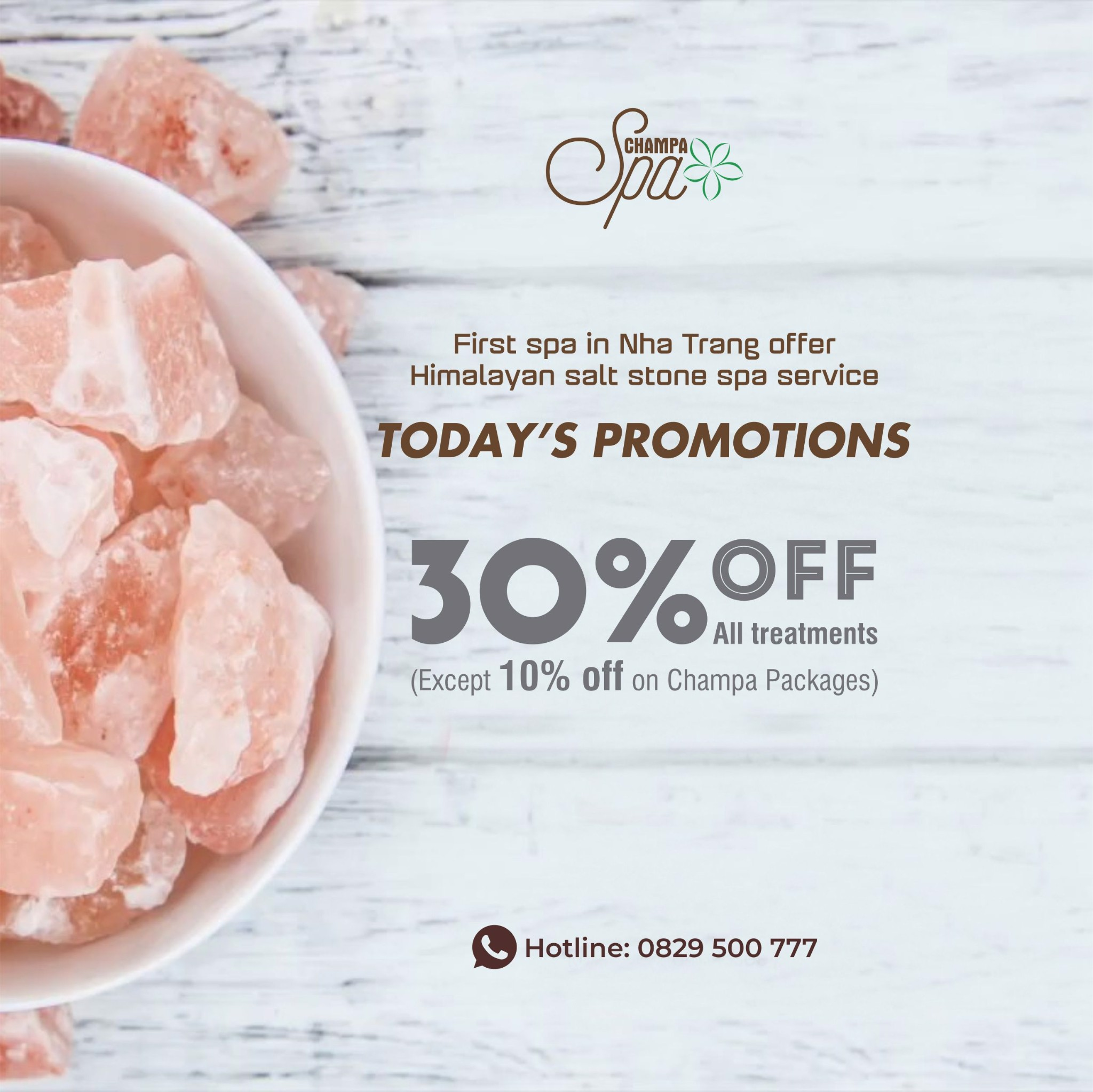 TODAY'S PROMOTION AT CHAMPA SPA