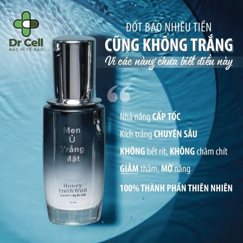 Men ủ trắng mặt Dr Cell