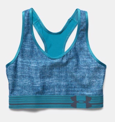 Áo ngực thể thao Under Armour - Printed Medium-Impact Blue