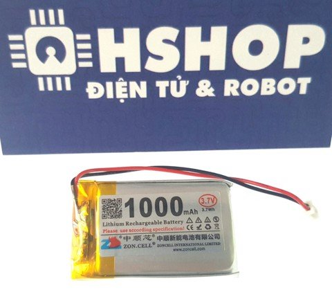 Pin Lipo 1 cell 1000mAh