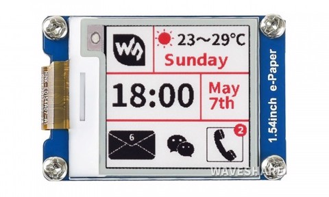 Màn hình Waveshare 1.54 inch E-Ink display module, three-color (B)