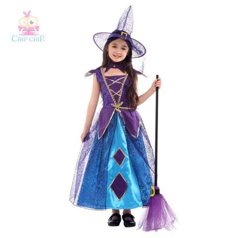 Bộ deluxe with girl halloween costume chip chip